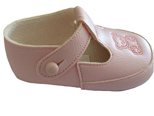 Baby Teddy zapatos por Earlydays fabricado en Reino Unido desde recién nacido a 18meses rosa Talla:0-3 meses rosa