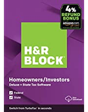 $29 » H&R Block Tax Software Deluxe + State 2019 with 4% Refund Bonus Offer [Amazon Exclusive] [Mac Download]