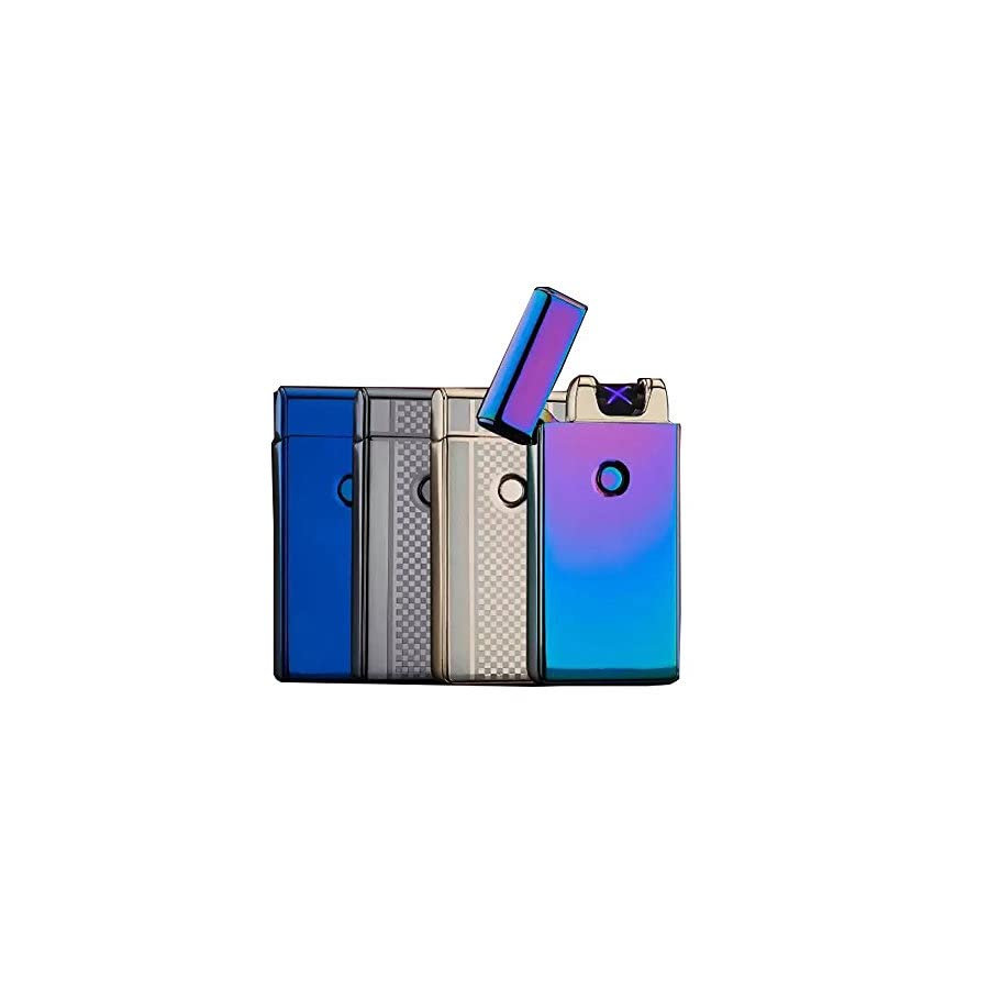 4BOSS LUXURY USB Rechargeable Electronic lighter survival Windproof, flameless, safety, no gas and fluid required, energy saving double arc lighter.