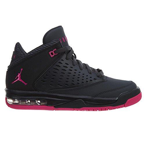 Nike Kinder Air Jordan Flight Origin 4 Anthrazit (Anthracite/Pink)