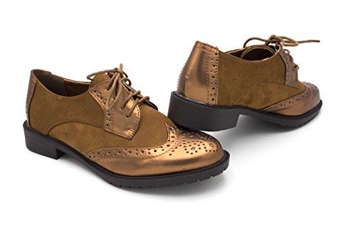 de Oui Cordones Zapatos Mujer marrón Fashion w8r8xqE