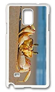 Adorable Crab on Beach Hard Case Protective Shell Cell Phone For Case Iphone 5/5S Cover - PC White