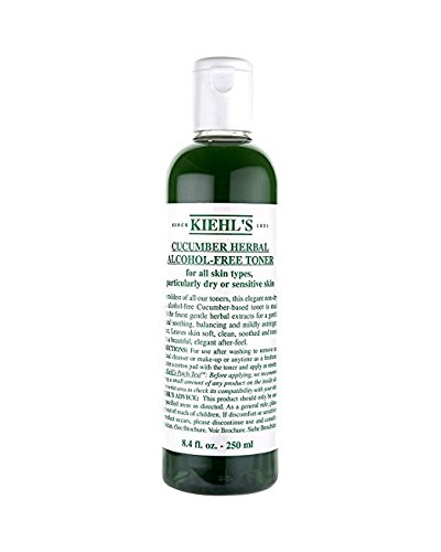 Ki'e'hl's Cucumber Herbal All Skin Types Alcohol-Free Toner, 8.4 OZ