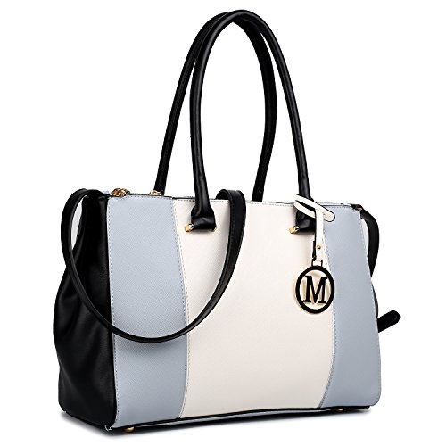 Women Handbags Grey Patchwork 1643 Lulu Zip Two Open Miss And Pockets Long Strap Inner With a Shoulder V Light PU Tote Bags Style Yx5xABqwF