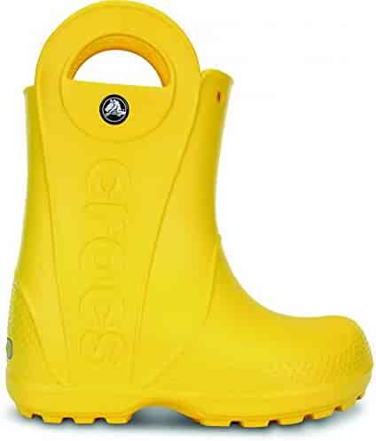 Crocs Boy's Kids Handle It Yellow Mid-Calf Rubber Boot - 1M