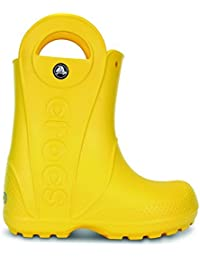 Boy's Kids Handle It Yellow Mid-Calf Rubber Boot - 11M