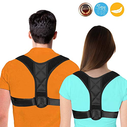 Posture Corrector for Women - FDA Approved Back Brace - Posture Brace - Effective Comfortable Adjustable Posture Correct Brace - Neck Pain Relief(2019 Upgrade) (Black)