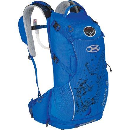 Osprey Zealot 16 Hydration Pack , Octane Blue, S/M, Outdoor Stuffs