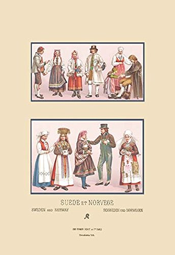 (Buyenlarge 0-587-14671-0-P1827 Popular Scandinavian Fashions of The Peasant Class Paper Poster, 18