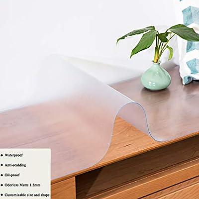 HMHD Mantel Transparente Rectangular, Cubierta de Mesa Protector ...