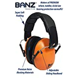 BanZ Earmuffs Kids Hearing Protection, Orange, 2+ Years
