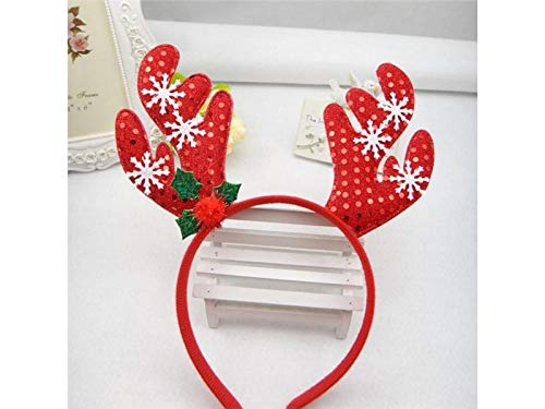 Della rosso Una Pezzi Festa Natale Fascia Hairband Del Natale Di 2 Bambini Lovke Buona Per Neve Fiocco Copricapo Decorazione Di Di Corna qUnC48
