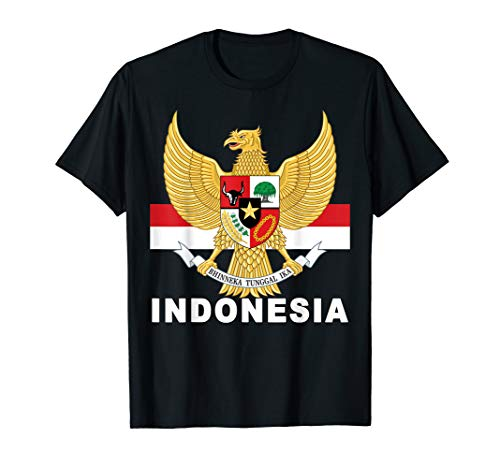 National Eagle Coat of Arms and Flag of Indonesia T-Shirt