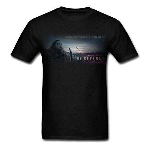 ZAM Men's The Reverant Leonardo Dicaprio Black T Shirt S