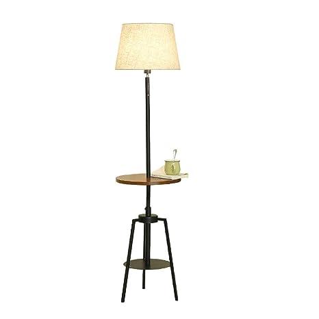 Lámpara de pie Nordic Simple Moderno Estante de Madera ...