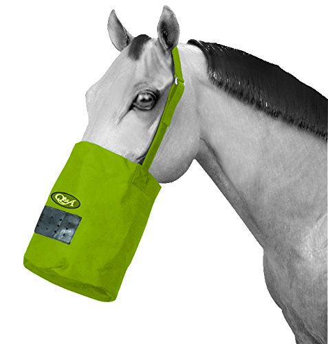 Q&A SUPPLY Nylon Feed Bag in Lime