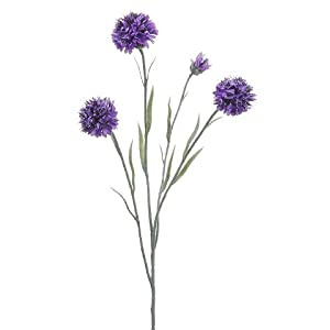 "24"" Silk Cornflower Flower Spray -Lavender (pack of 12) 10"