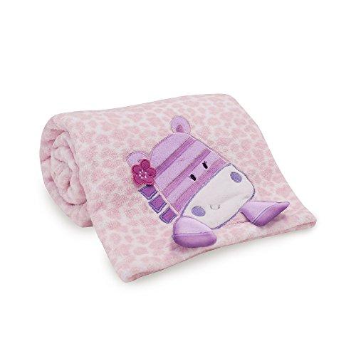 (Lambs & Ivy Hopscotch Jungle Blanket, Pink/Purple/White)
