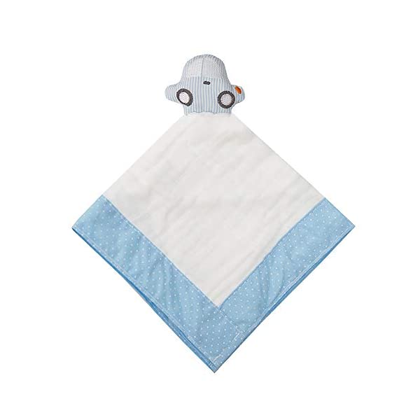 Mami Baby 1 Pack Muslin Cotton Security Blanket 16 in. x 16 in. (CAR)
