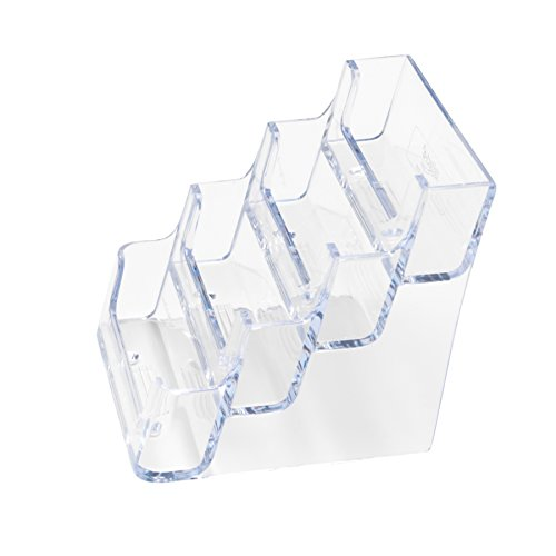 Deflecto Business Card Holders, 3-7/8 x 3-1/2 x 4-1/8 Inches (70841) - 4 Tier Card Holder