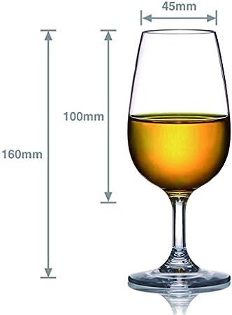 MICHLEY Copas Vino Cristal, 100% Tritan-plástico Irrompible Copas de Vino, 23 cl Copas de Vino Tinto, BPA y EA Gratis Vasos de plastico Conjunto de 2