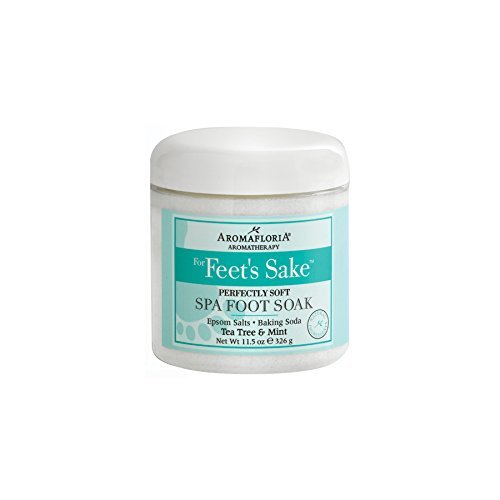 Aromafloria for Feet Sake Collection Spa, Foot Soak, Perfectly Soft, Spearmint/Tea Tree, 11.5 Ounce by Aromafloria