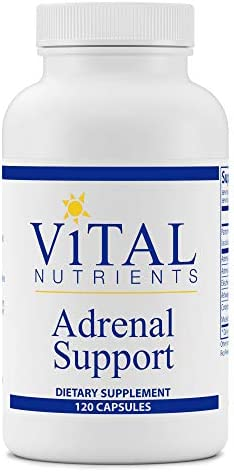 Vital Nutrients - Adrenal Support - Suitable for Men and Women - Supports Adrenal Gland Function, Supports Mild Stress and Anxiety, and Promotes a Healthy Immune System - 120 Capsules per Bottle 1