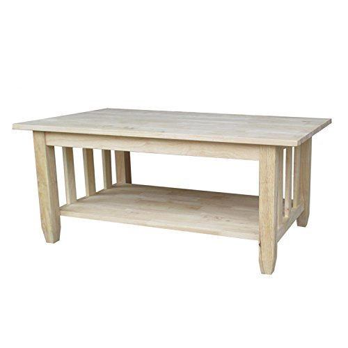 International Concepts BJ6TC Mission Tall Coffee Table, Unfinished