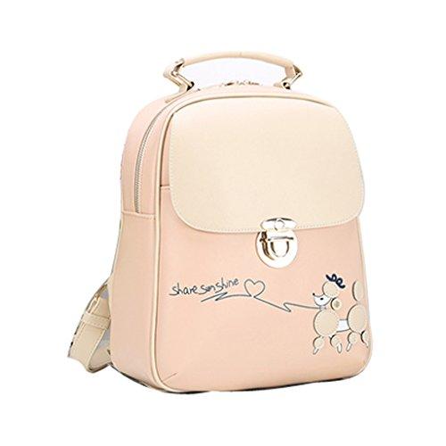 Candy Colors Pu Cartoon Backpack Style Women Daypacks Travel Pink Rucksack Fashion Stylish Leather Casual Minetom School Korean fvSwPq