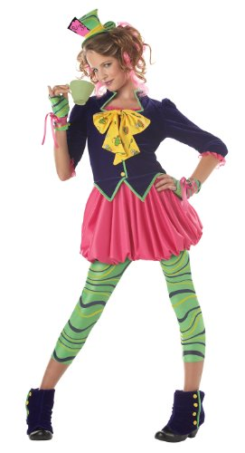 California Costumes Girls Tween Mad Hatter Costume, Multi,