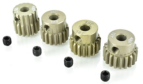 Apex RC Products 48 Pitch 16T 17T 18T 19T Aluminum Pinion Gear Set #9750 ()