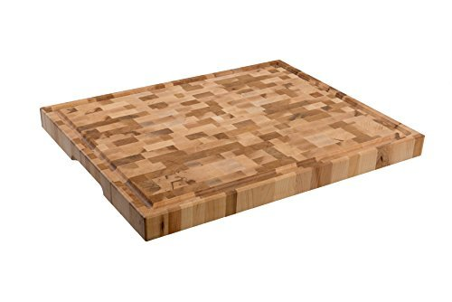 Grain Large End (Labell Boards L16206 Large Canadian End Grain Butcher Block with Groove, 16x20x1.5, Maple)