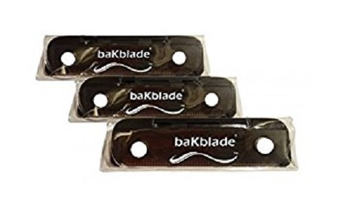 "BaKblade 1.0 ""Bigmouth"" Back Hair & Body Shaver Refill Replacement Cartridges. 4"" Extra-Wide Wet or Dry Disposable Razor Blades (3 Razors Included)"