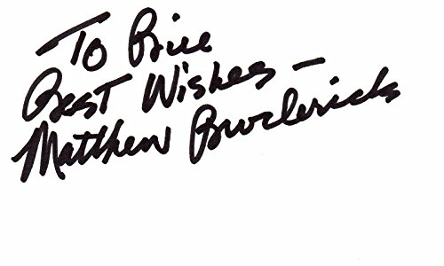 Matthew Broderick Signed - Autographed 1990's Vintage 3x5 inch Index Card - Ferris Bueller's Day Off - The Lion King - The Producers Broadway - Guaranteed to pass PSA/DNA or JSA ()