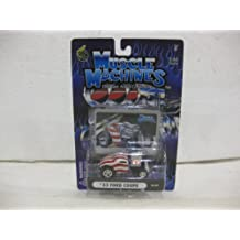 1933 Ford Coupe 03-42 In Patriotic Colors Diecast 1:64 Scale By Muscle Machines