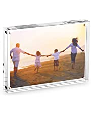 HESIN Clear Acrylic Magnet Photo Frame, Double Sided Picture Frame (5X7)