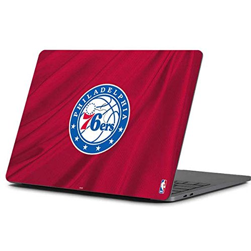Skinit NBA Philadelphia 76ers MacBook Pro 13-inch (2016-17) Skin - Philadelphia 76ers Jersey Design - Ultra Thin, Lightweight Vinyl Decal Protection