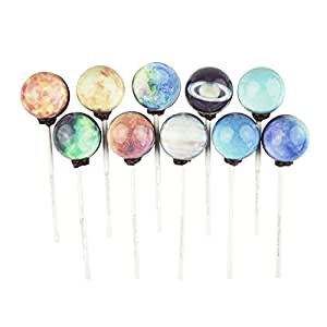 Sparko Sweets Planet Designs Lollipops Galaxy Series Space Foil Gift Pack, Handcrafted in USA, 1 Pound