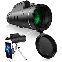 Zengest High Power Outdoor Monocular Telescope Bak-4 Prisms Dual Focus Adjustment with Phone Clip and Tripod for Camping, Hiking, Tourism, Match, Concert