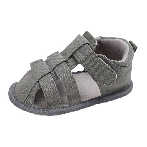 Clode® Frühlings Sommer beiläufige Mädchen Jungen weiche Baby Zehe Kappe, die Strand-Sandelholze bedeckt Grau