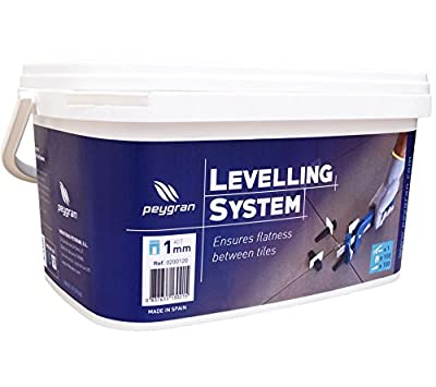STARTER KIT - Peygran Tile Leveling System: PLIERS/TOOL+100 CLIPS/SPACERS+100 WEDGES in a heavy duty bucket. Superior quality, European product for lippage free tile and stone installation