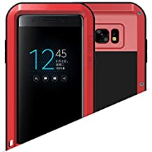 Galaxy FE U11 Warrior Love Mei Shell, Awesome Aviation Aluminum Metal Anti-Drop Cover, TAITOU Cool Outdoor Sport Dirt Shockproof Protective Armor Phone Coque For Samsung Galaxy FE U11 Red