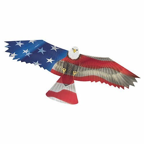 WindNSun U.S.A. Eagle Supersized Nylon Kite with Flying Line Included