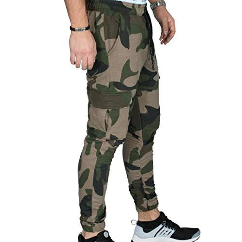Realdo Hot!Clearance Sale Fashion Men Tight Beam Foot Drawstring Sports Slacks Casual Elastic Pockets Trousers(XXX-Large,Army Green) by Realdo (Image #1)