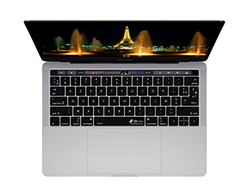 French Keyboard Cover for MacBook Pro (Late 2016+) w/ Touch Bar