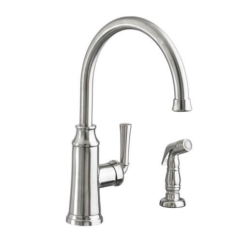 American Standard 4285.051.075 Portsmouth High Arc Kitchen Faucet with Side Spray, Stainless Steel