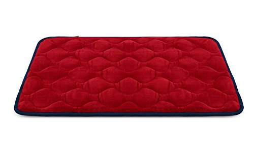 Dog Bed Mat Washable - Soft Fleece Crate Pad - Anti-slip Matress for Small Medium Large Pets (Red XS) by HeroDog (Car Kennels For Dogs)