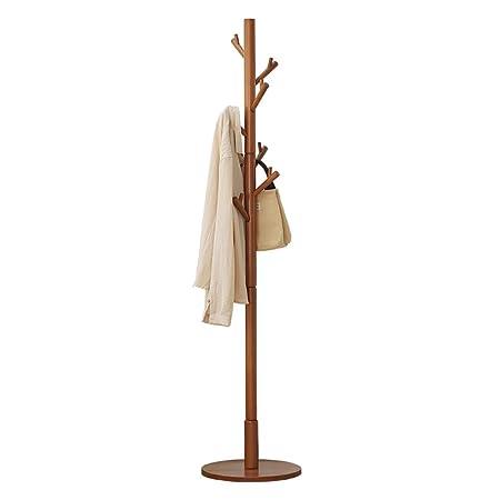 Amazon.com: Perchero de pie con diseño de Zhirong, de madera ...