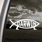 Darwin Fish Sign Decal Evolve Truck Window Sticker