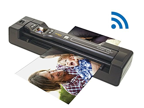 Vupoint Solutions Magic Wand Portable Scanner WIFI with Color LCD Display and Auto-Feed Dock (Scanner Fi Portable Wi)